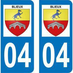 Autocollant Plaque Blieux 04330