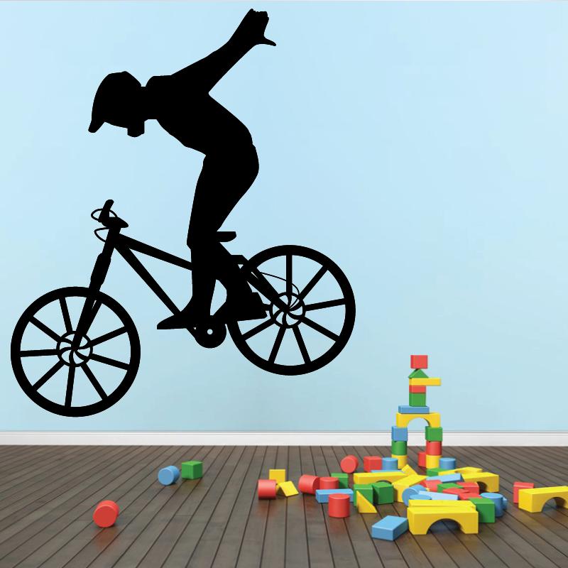 Sticker Mural Velo Biker - 1