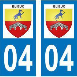 Sticker Plaque Blieux 04330