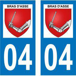 Sticker Plaque Bras-d'Asse 04270