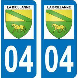 Autocollant Plaque La Brillanne 04700