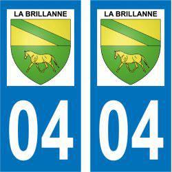 Sticker Plaque La Brillanne 04700