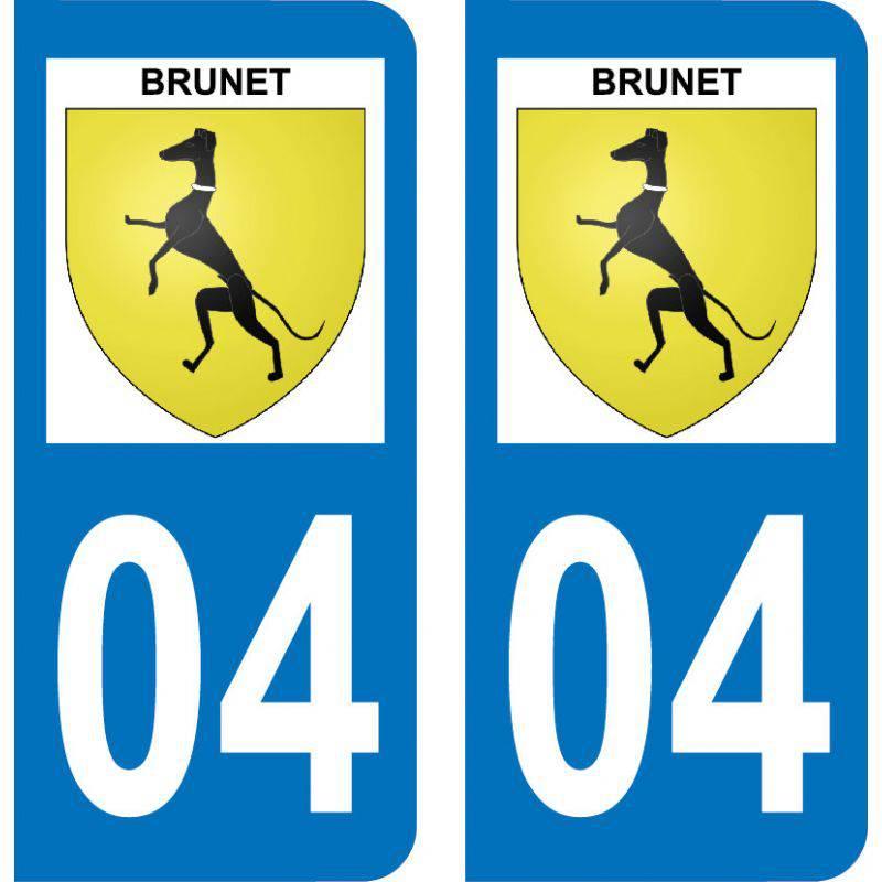 Autocollant Plaque Brunet 04210