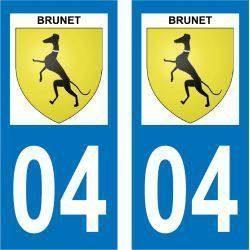 Sticker Plaque Brunet 04210