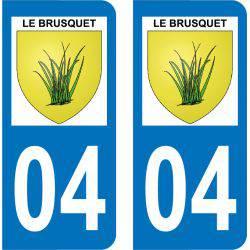 Autocollant Plaque Le Brusquet 04420