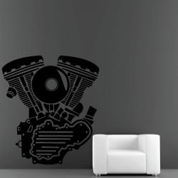 Sticker Mural Moteur Motor