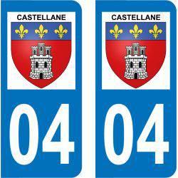 Autocollant Plaque Castellane 04120