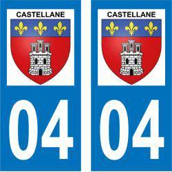 Sticker Plaque Castellane 04120