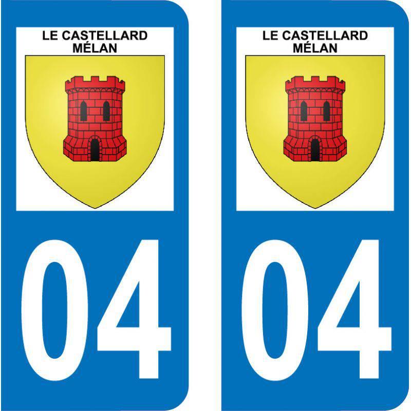 Autocollant  Plaque Le Castellard-Mélan 04380