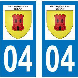 Sticker Plaque Le Castellard-Mélan 04380