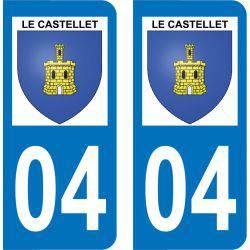 Autocollant Plaque Le Castellet 04700