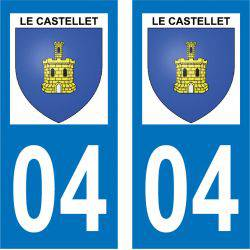 Sticker Plaque Le Castellet 04700