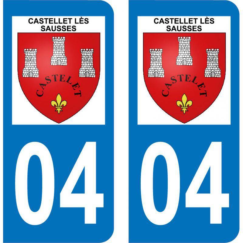 Autocollant  Plaque Castellet-lès-Sausses 04320