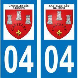 Sticker Plaque Castellet-lès-Sausses 04320