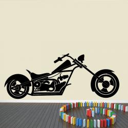 Autocollant Mural Moto Custom