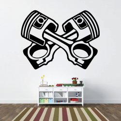 Sticker Mural Piston