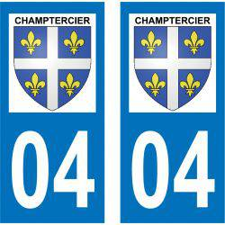 Sticker Plaque Champtercier 04660