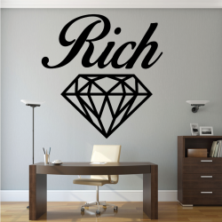 Sticker Mural Rich Diamond