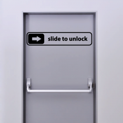 Sticker Mural Slide To Unlock