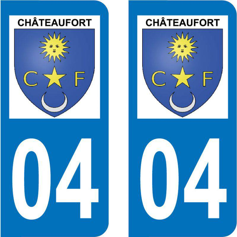 Sticker Plaque Châteaufort 04250