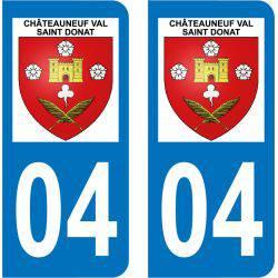 Sticker Plaque Châteauneuf-Val-Saint-Donat 04200