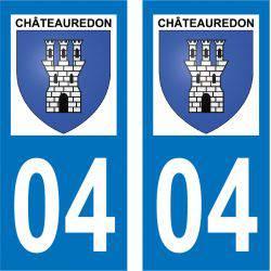 Sticker Plaque Châteauredon 04270