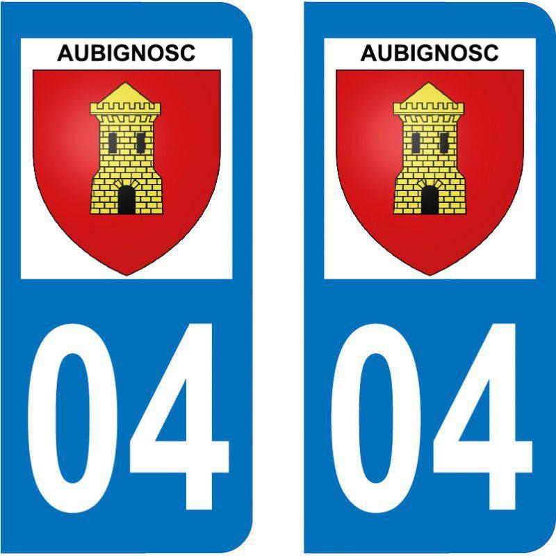 Autocollant Plaque Aubignosc 04200