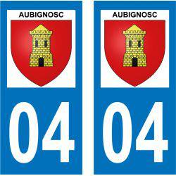 Sticker Plaque Aubignosc 04200