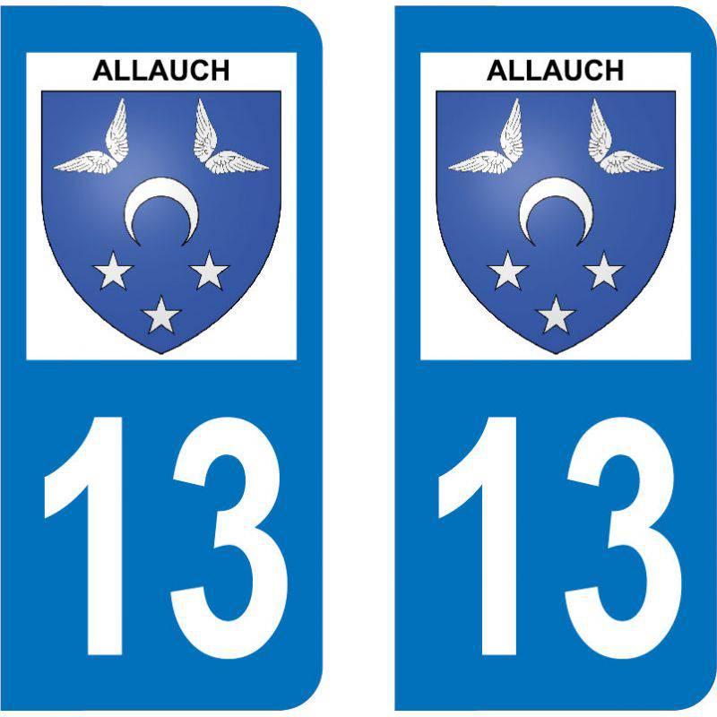 Autocollant Plaque Allauch 13190