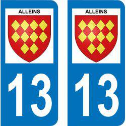 Autocollant Plaque Alleins 13980