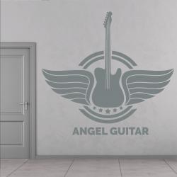 Sticker Mural Angel Guitar Rock - 1