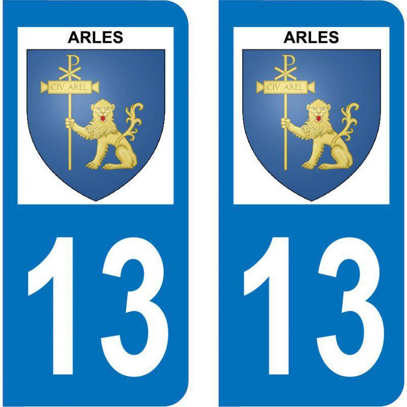Autocollant Plaque Arles 13200