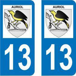 Autocollant Plaque Auriol 13390
