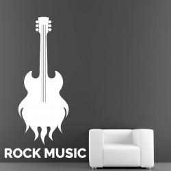 Sticker Mural Guitare Rock Music - 1