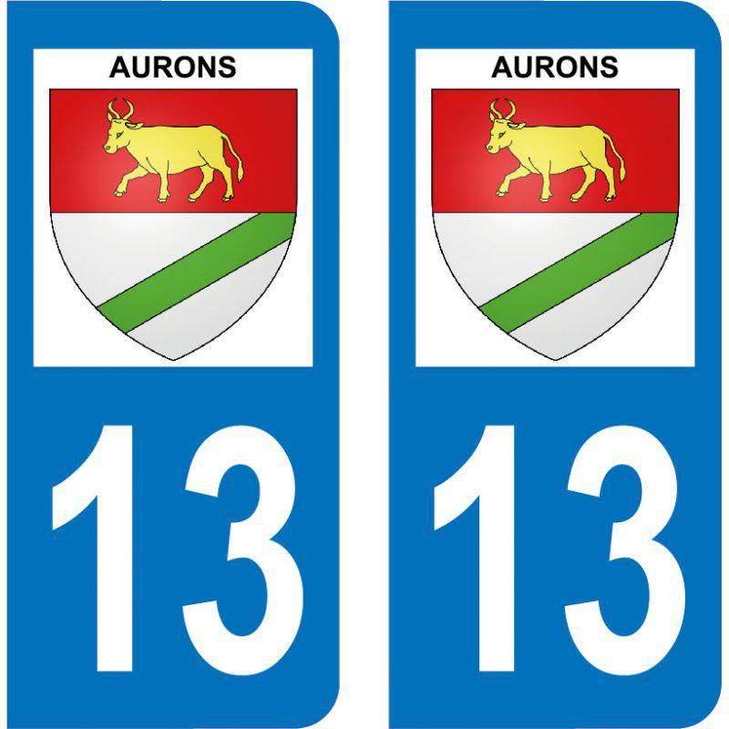 Autocollant Plaque Aurons 13121