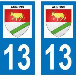Sticker Plaque Aurons 13121