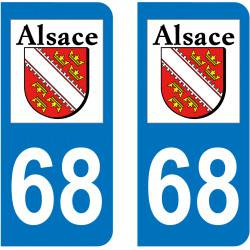 Sticker Plaque 67 Bas-Rhin