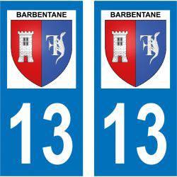 Sticker Plaque Barbentane 13570