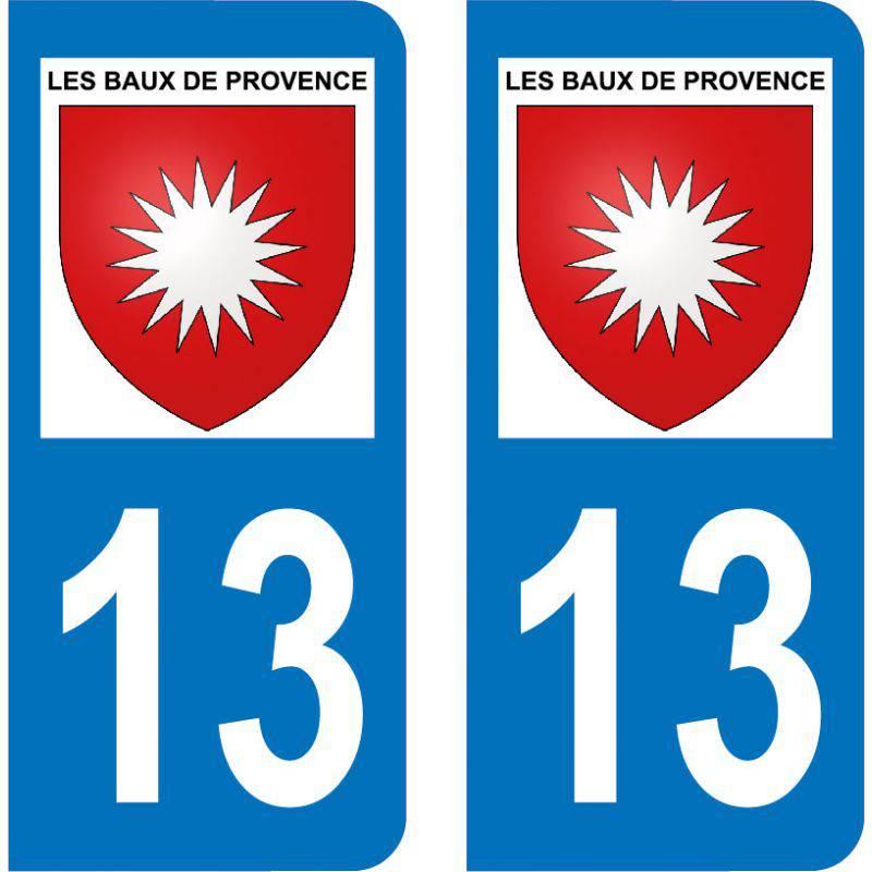Autocollant Plaque Les Baux-de-Provence 13520