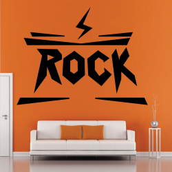 Sticker Mural Logo Rock - 1