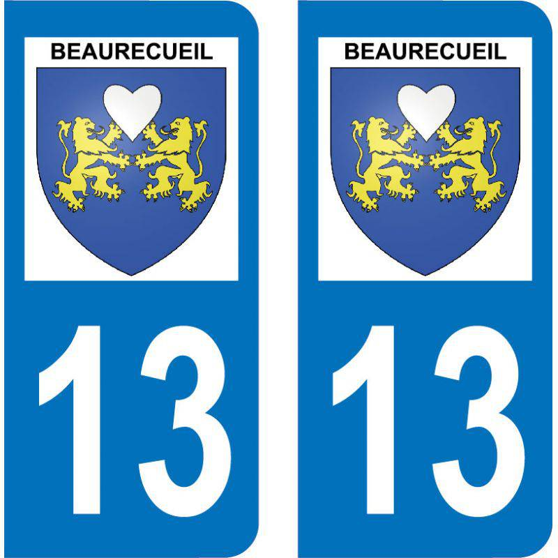 Autocollant Plaque Beaurecueil 13100