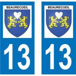 Sticker Plaque Beaurecueil 13100