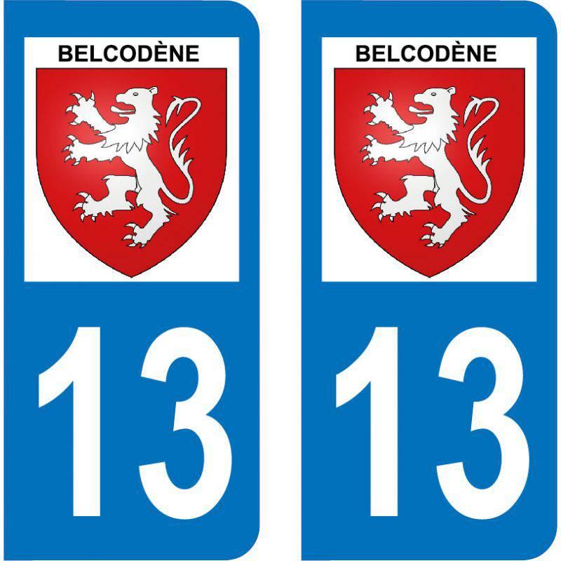 Autocollant Plaque Belcodène 13720