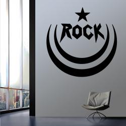 Sticker Mural Vague De Rock - 1