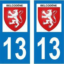 Sticker Plaque Belcodène 13720