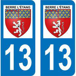 Autocollant Plaque Berre-l'Étang 13130