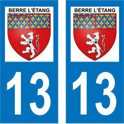 Sticker Plaque Berre-l'Étang 13130
