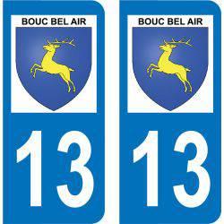 Autocollant Plaque Bouc-Bel-Air 13320