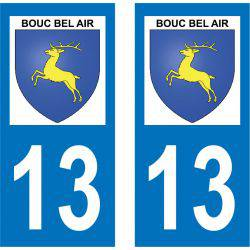 Sticker Plaque Bouc-Bel-Air 13320