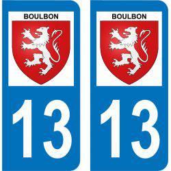 Autocollant Plaque Boulbon 13150